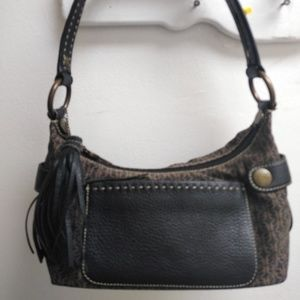 LEATHER & CANVAS FOSSIL PURSE